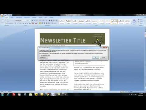 How do I create and distribute a newsletter using MS Word?