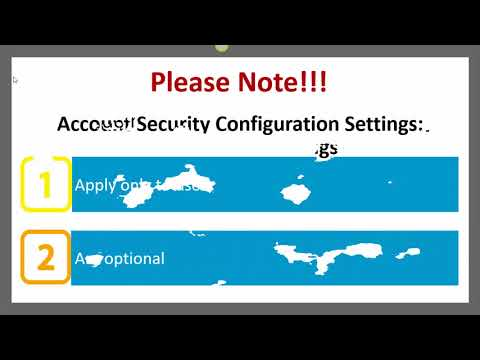 How do I Change my Account Security Configuration Settings?