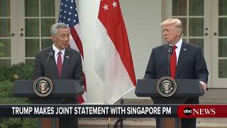President Donald Trump, Singapore PM Loong hold joint news conference