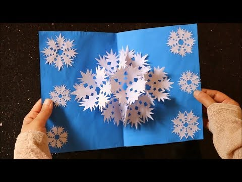 3D Snowflake Pop up Card - DIY Paper Craft