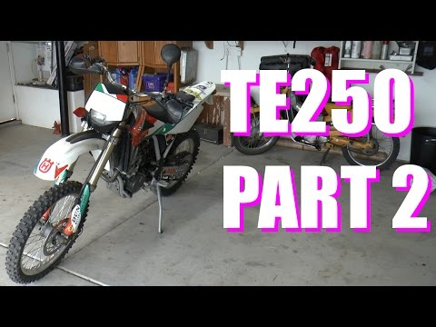 Taking Apart A Motorcycle In 5 Minutes - TE250 Part 2