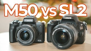 Canon M50 vs Canon SL2 (200D) - Which is the BEST beginner camera 2019?