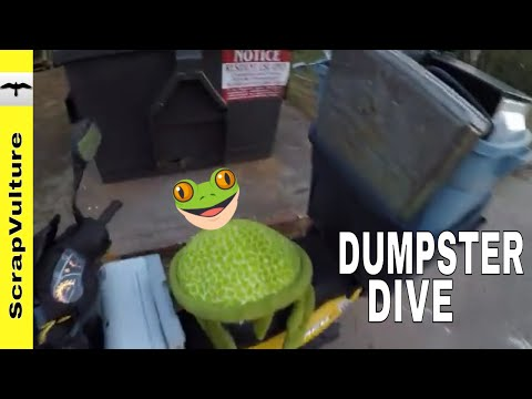 Mass Dumpster Diving REAL TIME ACTION (recorded in actual time) Treasure & Scrap Hunting Action