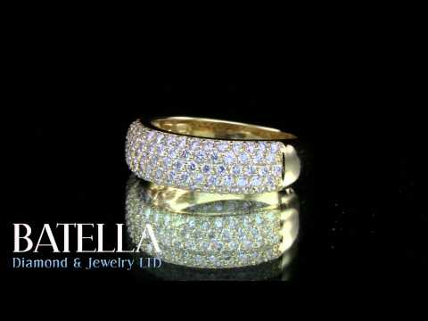 1.00 Carat E-F VVS1-VVS2 Round Diamonds Engagement Ring pave Setting 14k Gold