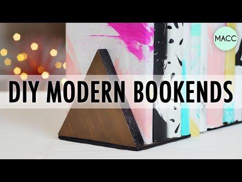 DIY Modern Bookends