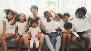 Our Family's Hair Wash Day Routine 💆🏾♀️  7 Kids 7 Different Hair Types (Part 1)