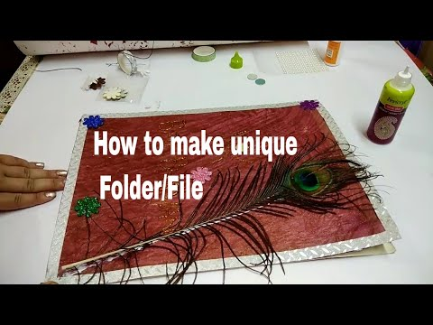 How to make file/folder at home /DIY unique folder / Back to school supply/ File for projects