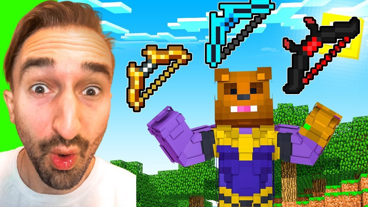 Crafting GOD BOWS To STOP THANOS in Insane Craft w/ SSundee