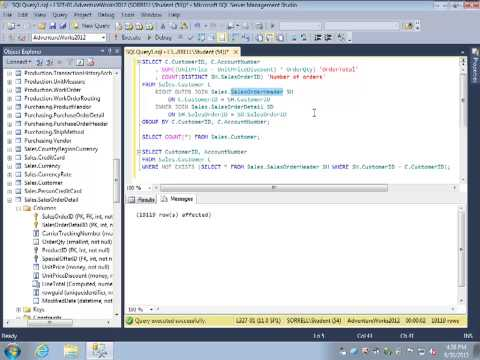 SQL Review Video 18: LEFT and RIGHT OUTER JOINs