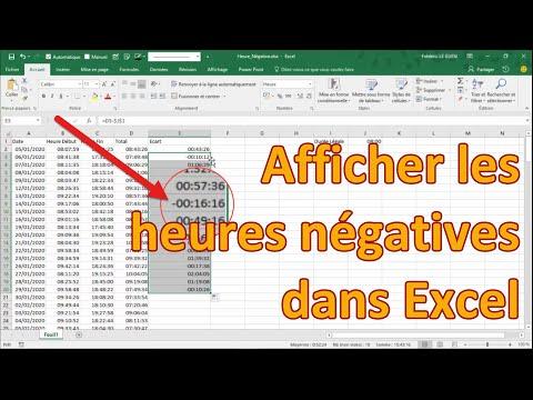Les heures négatives dans Excel