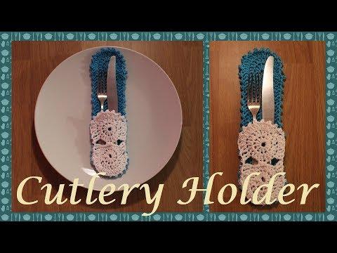 Crochet Cutlery Holder
