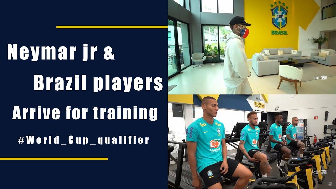 Neymar jr & Brazil football team arrive in Brazil For World Cup qualifier