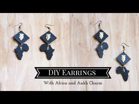 DIY Earrings with Africa and Ankh Charms