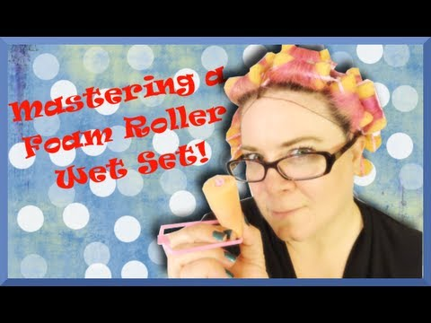 How to Master a Foam Roller Wet Set  - Vintage Hairstyling Basics