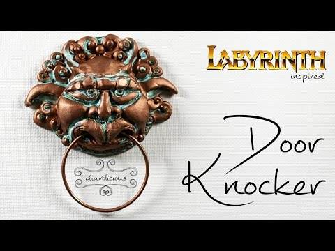 The Door Knocker (right one) - Labyrinth inspired polymer clay TUTORIAL