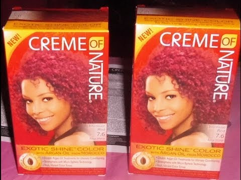 Coloring my roots red without using bleach on natural hair