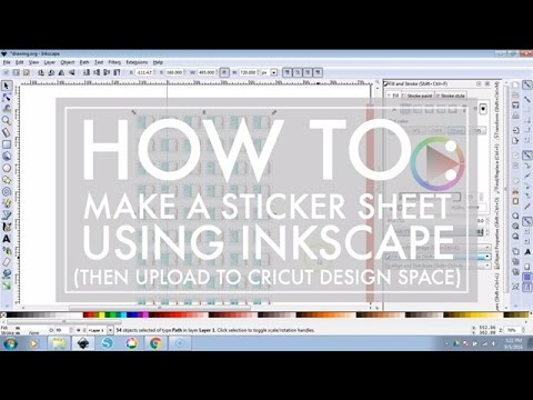 How to Use Inkscape to make a Sticker Sheet to cut with Cricut Explore // 516vlogs