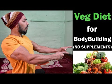 VEGETARIAN DIET FOR BODYBUILDING (NO SUPPLEMENTS) | Indian Bodybuilding Diet