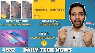 Mi A3 Launch,Redmi X20,K20 & P20 Pro,Realme X Youth Edition,SD 865,Samsung In Display Camera#832