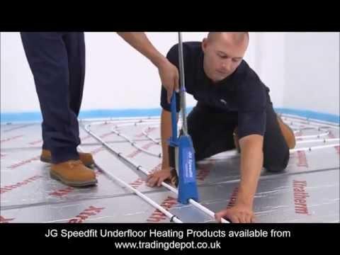 Installing JG Speedfit Underfloor Heating Using The Staple System