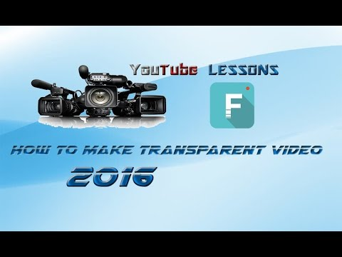 How To Make Transparent Video With Wondershare Filmora 2016