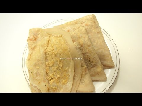 Dhal Puri, step by step Video Recipe (HD) II Real Nice Guyana