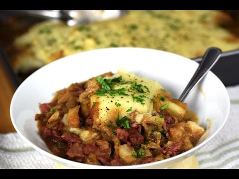 How to make Corned Beef & Cabbage Shepherd's Pie, a cafe favorite!