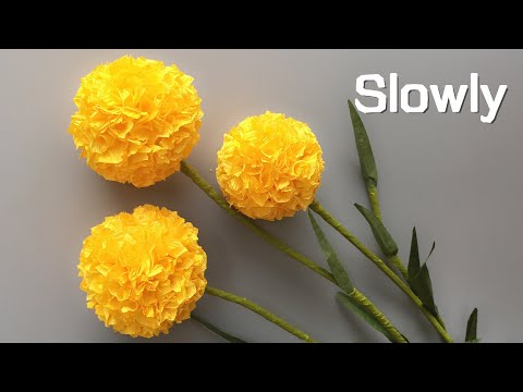 ABC TV | How To Make Billy Buttons Paper Flower From Crepe Paper #1 - Craft Tutorial