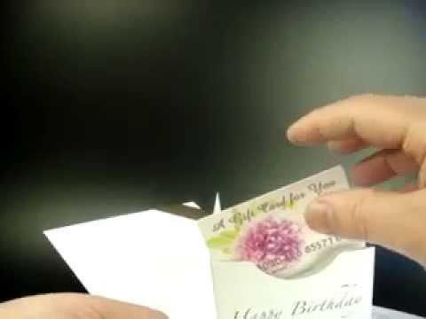 CARD HOLDER V FOLD | pop up gift card presenter