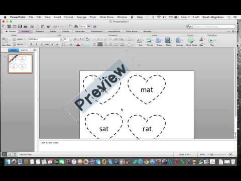 How to Make Your Fonts Transparent (Using PowerPoint on a Mac)
