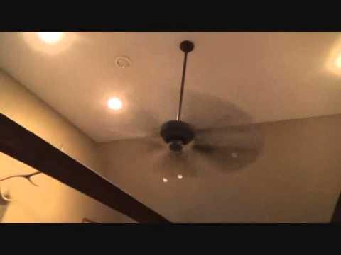 A great ceiling fan idea for high ceilings