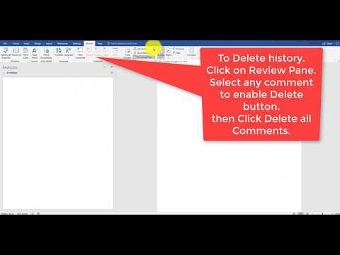 How to Disable Track Changes and Clear Review  Comments from document.