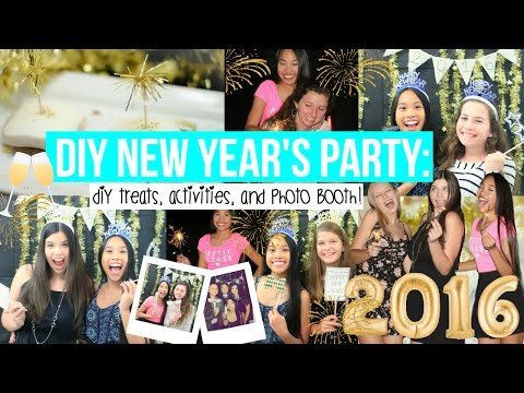 DIY NEW YEAR'S PARTY +Decor, Treats, and Photo Booth!! || BeautybyAndi