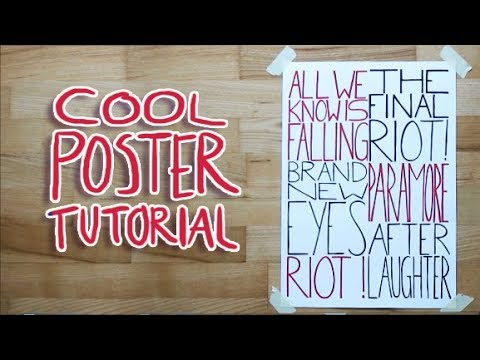 HOW TO MAKE A COOL POSTER!