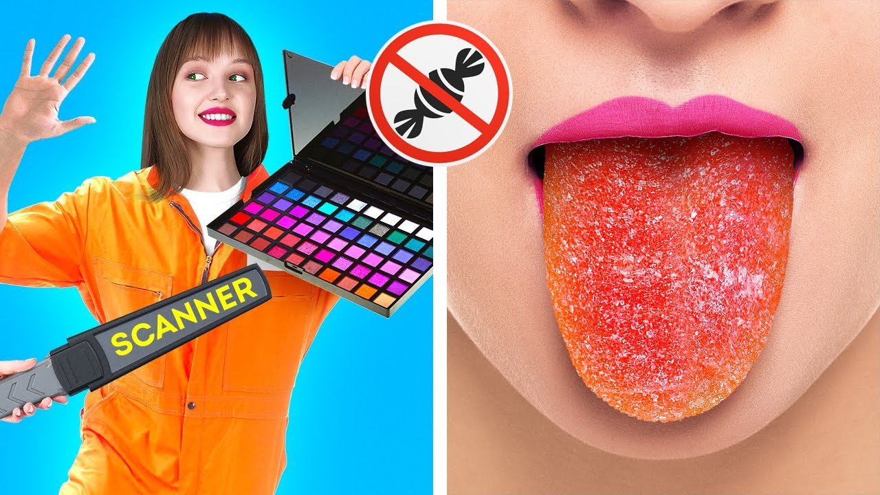 COOL WAYS TO SNEAK CANDIES INTO CLASS || Awesome Food Hacks And Tricks by 123 Go! Live