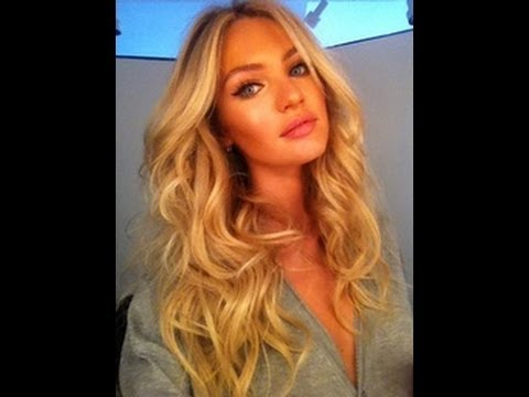 VICTORIAS SECRET HAIR tutorial for BEACH WAVES / CURLS No HEAT like Candice Swanepoel Marissa Miller