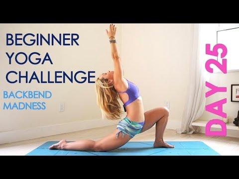 Day 25 Beginner Yoga Challenge  -  Backbend Madness
