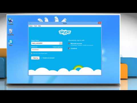 How to Change Skype® Password on a Windows® 8 PC