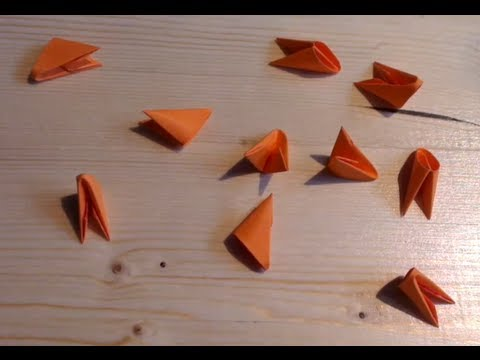 How To Make 3D Origami Triangle Units