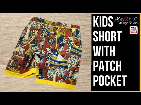How to sew a pair of shorts with a flat front and patch pocket