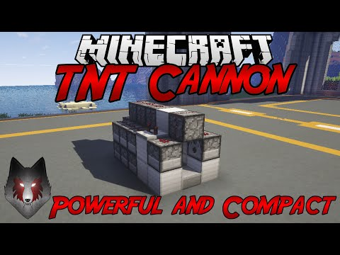 Minecraft | TNT Cannon Tutorial | Powerful & Compact