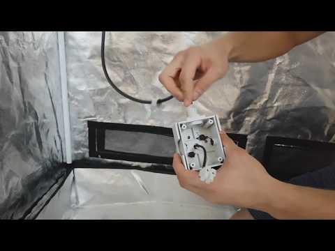 Growbox : Beleuchtung Anleitung (Set 1)