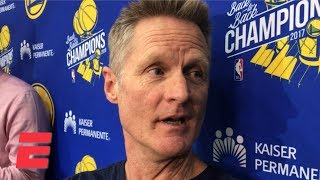 Steve Kerr blames bad lip reading for his comments about Draymond Green   NBA Sound