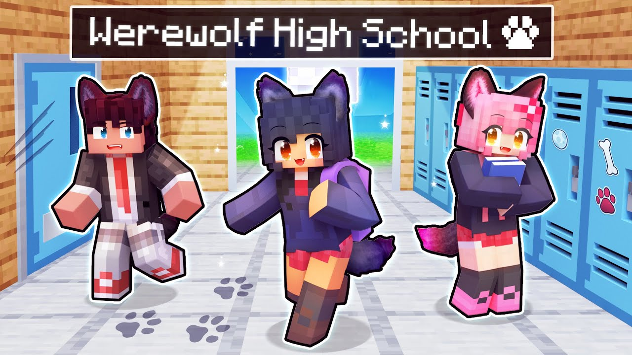 My FIRST Day at WEREWOLF High School in Minecraft!