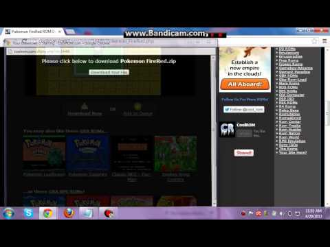 How to download pokemon firered version+Free trying visual boy advance GAMEPLAY