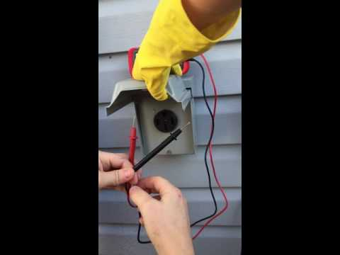 How to test 50 amp socket with multimeter