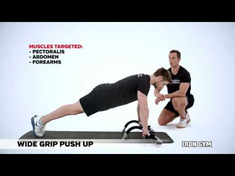 Wide Grip Push Up - IRON GYM® Training Academy