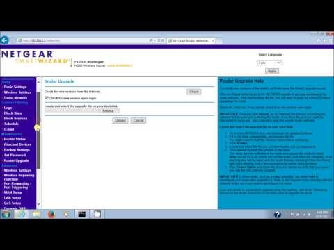 Netgear Router Updating Firmware Manually For WNR2000V3 (Version 3) N300 Wireless Router