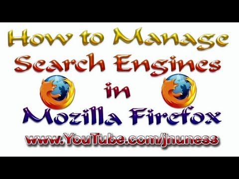 How to Manage Search Engines in Firefox