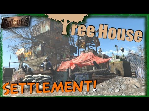 Fallout 4 - Tree House Village! The High Settlement | Building with Mods